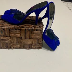 Guess by Marciano cobalt blue-sandal heels